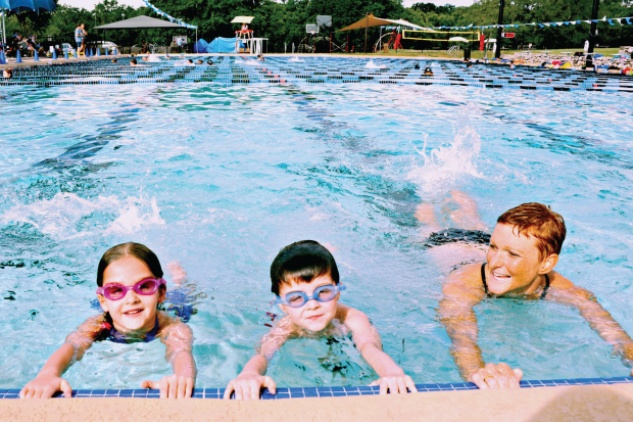Austin Fit Magazine July 2013 kids in pool