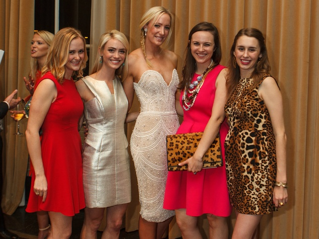 Jackie Wheeler, Katie Crow, Margretta Wikert, Sarah Means, Mary Catherine McCormick, RMH Young Friends Party