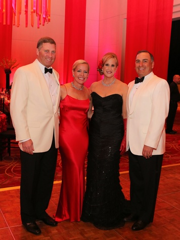 199 Houston SPA gala April 2013 Matt Schatzman and Rosemary Schatzman with Vanessa Sendukas and Perry Sendukas