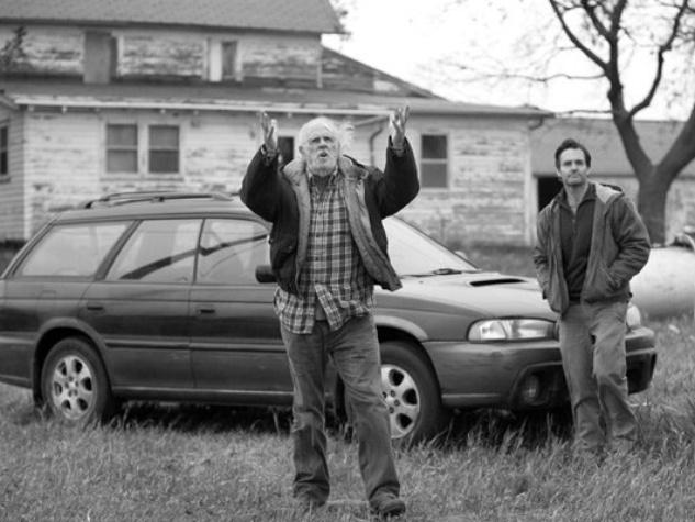 Bruce Dern and Will Forte in Nebraska film