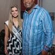 Kirby Lindley, Charles Haley at Big Texas Party