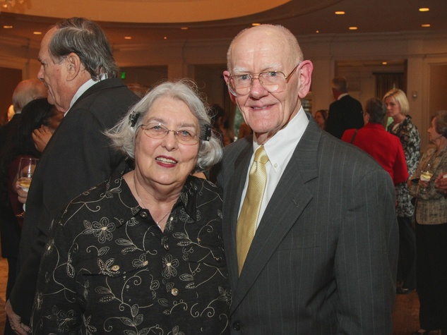 Sally and Bob Thomas at the Houston Hospice dinner October 2013