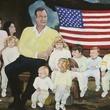 Houston, Rodrigue Exhibit at West Ave, June 2015, Portrait of President George Bush and grandchildren