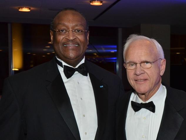 Preston Johnson, left, and Oliver Pennington at the Hispanic Chamber of Commerce Gala November 2014