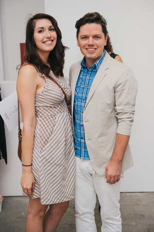 24 Shelbi Smith and David Peck at the Amir Taghi launch May 2014