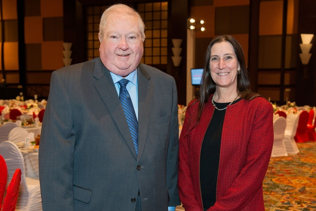 News, Shelby, Red Cross Luncheon, Feb. 2015, Bruce LaBoon, Cathy Krajicek