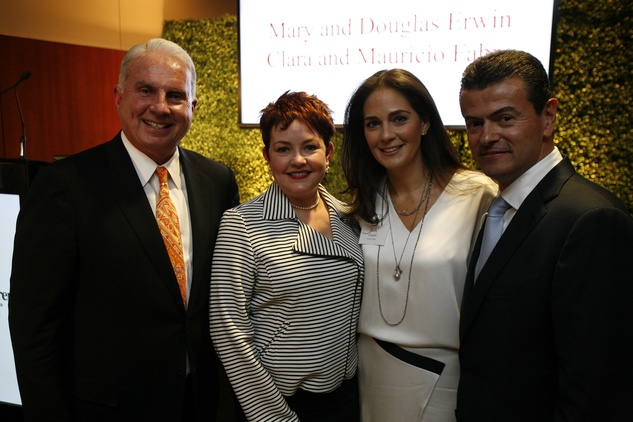 16 Mark and Shannon Wallace, from left, and Karla and Jorge Goudet at the Texas Children's Hospital What's Up Doc dinner November 2014