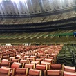 Astrodome public tour 50th anniversary party April 2015 Astrodome public tour 50th anniversary party April 2015 A sea of seats on the ground and none in the the stands.
