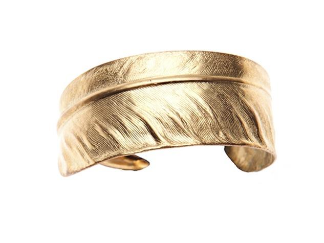 gold feather cuff, ModMade Goods