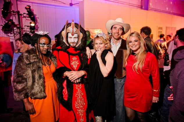 117 Carlisse Chatman, from left, Jeff Shell, Tammy Greene Dowe, James Phelan and Heather Yanak at the Fresh Arts Space Ball March 2014