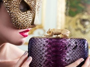 Thale Blanc masked model with clutch