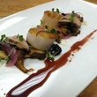 Kata Robata, scallops, mushrooms, pickeled onion