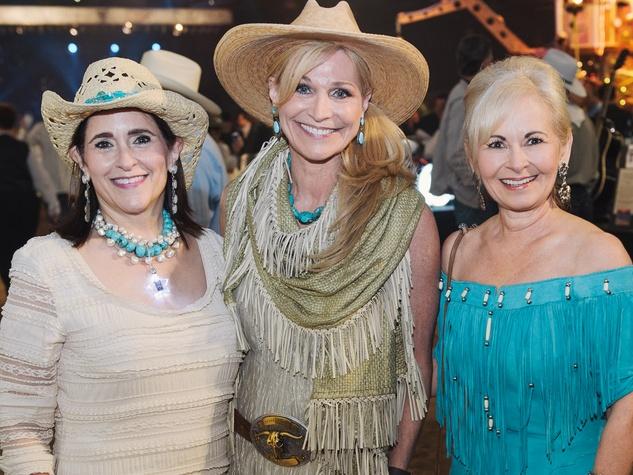 12 Houston Cattle Baron's Ball April 2013 Susie Gold, Joni Ballis, Marsha Parker