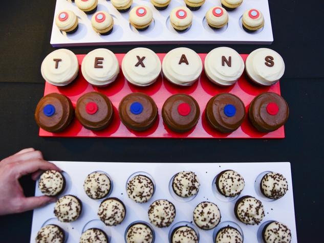 4 Sprinkles Cupcake booth cupcakes at Taste of the Texans November 2013