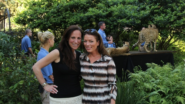 1 Adrienne Carter, left, and Caryn Papantonakis at Cheetah Conservation and The Houston Zoo Event March 2015