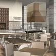 Hilton Austin downtown hotel 2016 renovation rendering restaurant Cannon + Belle kitchen