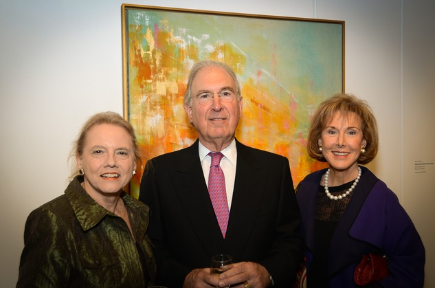 475 Lauran McCollum, from left, with Charles and Diane Ofner at the Barbara Hines Art Opening in Dallas October 2014