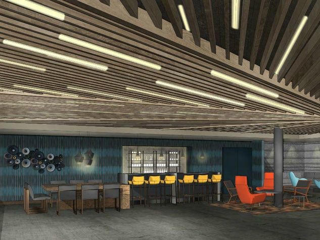 Hilton Austin downtown hotel 2016 renovation rendering event space Reverbery