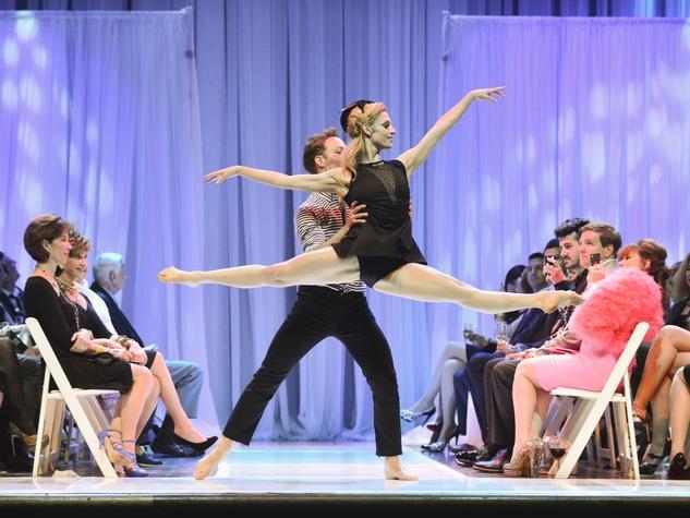 18 Houston Little Black Dress Designer fashion show May 2013 dancers on runway