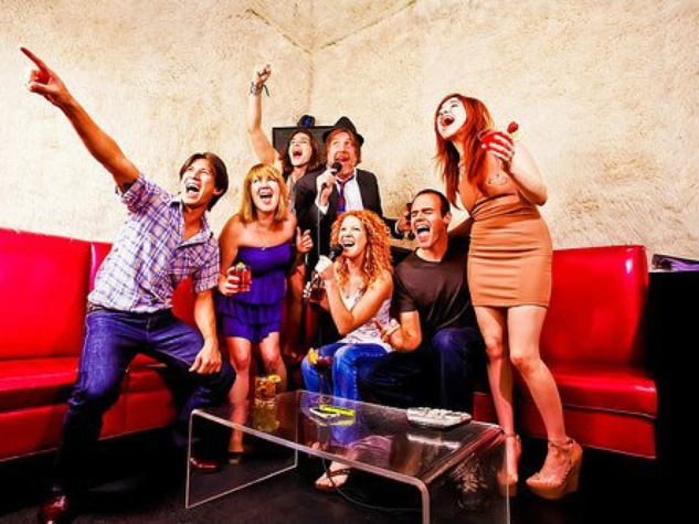 The Highball karaoke room singers