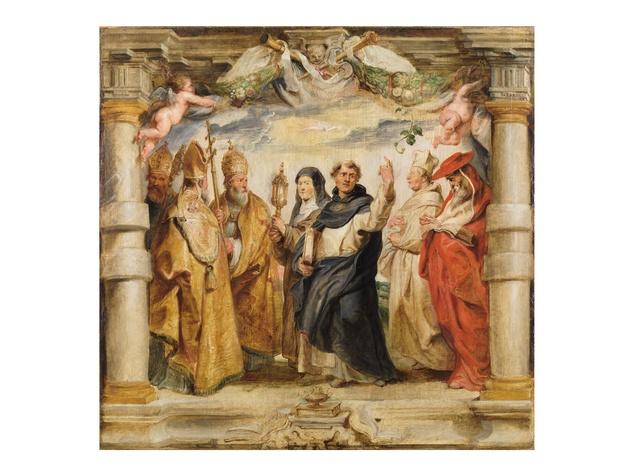 Peter Paul Rubens, The Defenders of the Eucharist, c. 1625, oil on panel, Museo Nacional del Prado, Madrid.