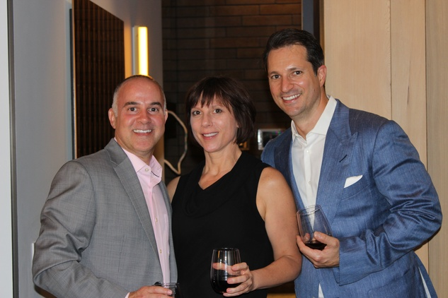 1695 Brian Malarkey, from left, Donna Kacmar and Andrew Farkas at the UH College of Architecture Memorable Meals October 2014