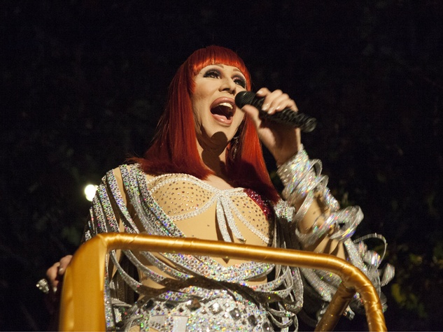 Cher impersonator at 2014 Two x Two First Look