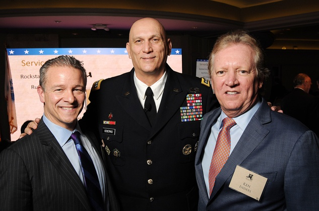 Stephen Cannon, from left, Gen. Raymond T. Odierno and Ken Enders at the Johnny Mac Soldiers Fund Inaugural Houston Gala April 2015