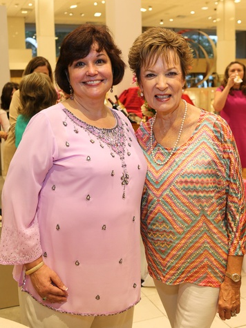 Mary Fischer, left, and Gail Rauhut at Neiman Marcus' Stiletto Strut