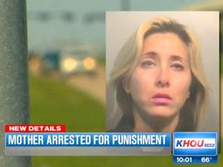 Angela Graciela Garcia arrested for making son walk along Gulf Freeway at night October 2013