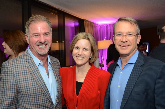 Terry Wayne Jones, from left, Emily Keeton and  Robert Shelton at the Flavour launch at Hotel Derek February 2015