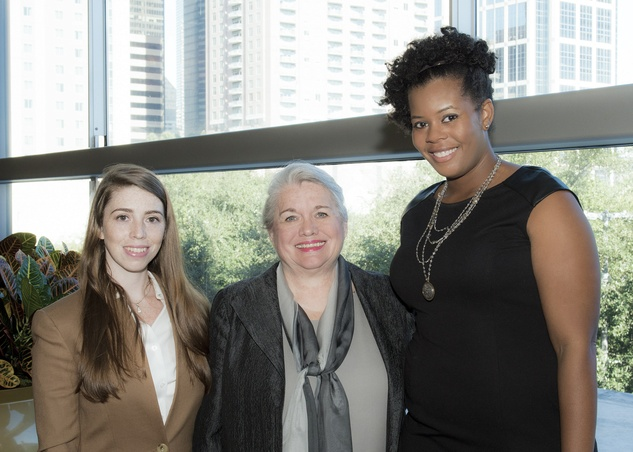 13 Danielle Blut, from left, Robin Blut and Reisha Beaty at the Keep Houston Beautiful luncheon