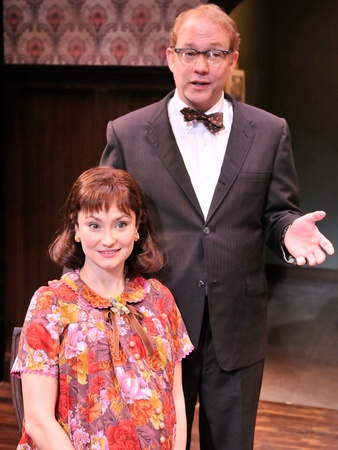 Nancy, life in the middle, January 2013, Emily Neves as Betsy and Philip Lehl as Karl in the Alley Theatre's production of Clybourne Park.  Clybourne Park runs on the Alley's Neuhaus Stage