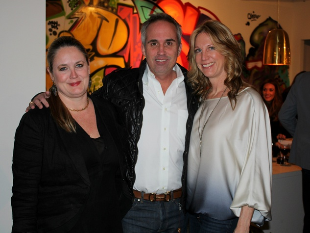 Kim Burgan, Darin Kunz, Lynae Fearing, Gallerie Noir one year anniversary party