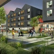 Plaza Saltillo District East Austin Capital Metro paseo rendering