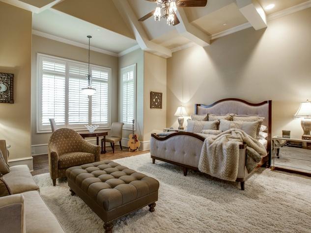Master bedroom at 1724 Wisteria Way in Westlake