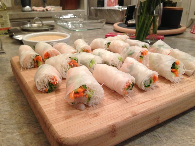 Spring Roll at Chef Brady Gibbs cooking class