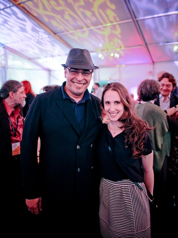 Hamza Serafi and Zoe Goldman at the FotoFest opening party March 2014