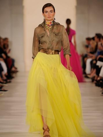 Fashion Week spring 2015 Ralph Lauren September 2014 safari yellow