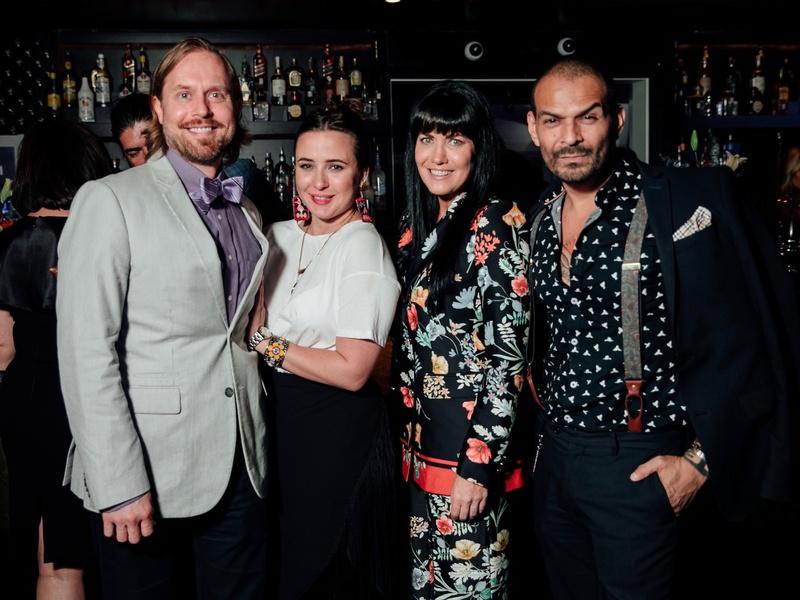 Michael Broderick, Michelle Reyna, Tiffany Halik, Todd Ramos at Little Black Dress Designer 2017
