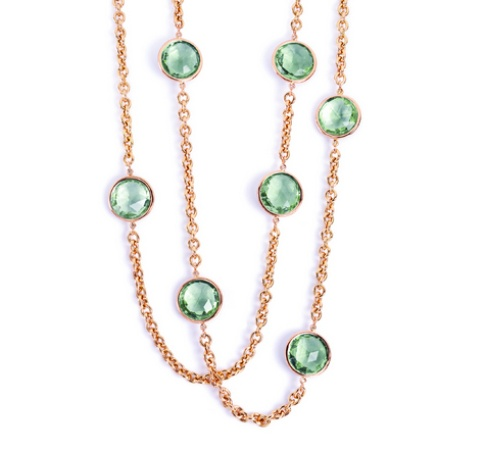 A&Furst Prasiolite Necklace