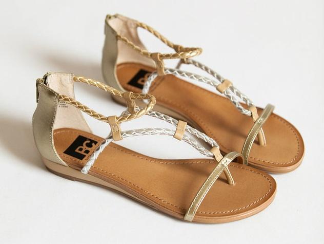 Sweet success metallic sandals at Bloom
