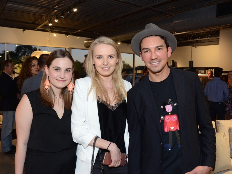 BeDESIGN cocktail party, Lauren Madonia, Ania Michowska, Fransico Garcia