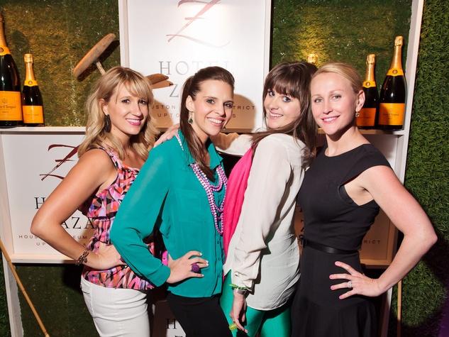 Hotel ZaZa Houston spring social April 2013  Allison Bagley, Malori Steadman, Holly DeMaster, Christine Williamson