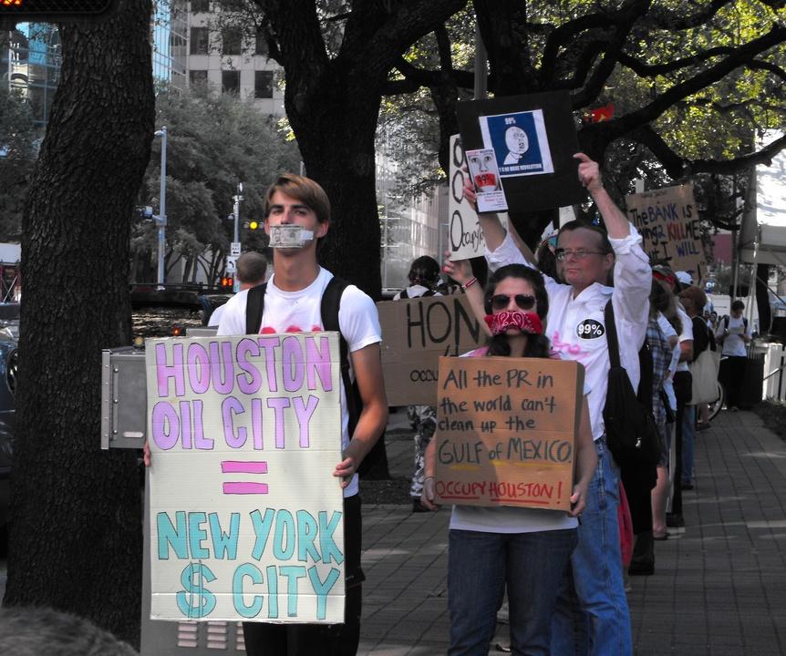 Occupy_Houston_Silent_Protest_Smith_Street_Demonstrators
