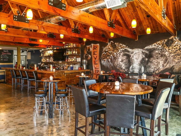 Revelry Kitchen + Bar interior art Jorge Palomarez