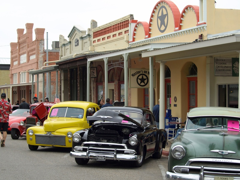 Main Street in Bastrop -- Classic Cars
