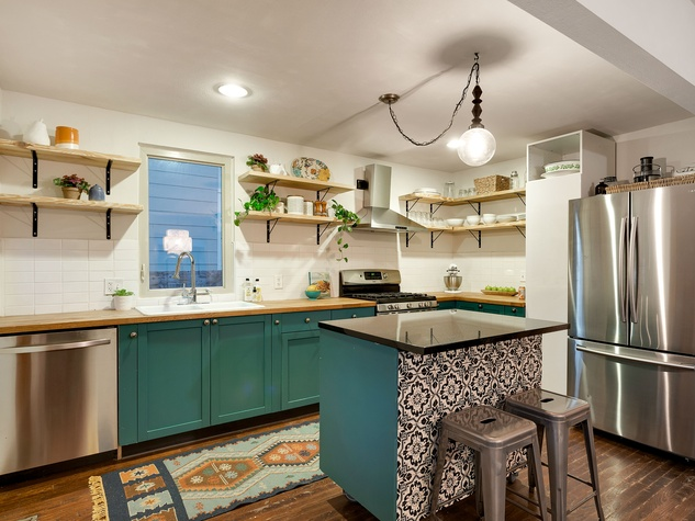 East Austin house home 1131 Poquito Street 78702 kitchen