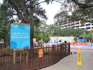 Houston Zoo, Water Play Park Sign, June 2012