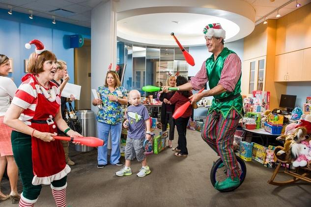 15 Santa at Texas Children's Hospital December 2013